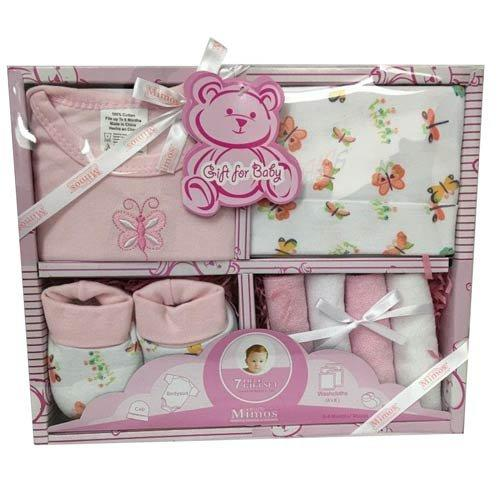 Little Mimos 7-Piece Baby Girl Gift Set