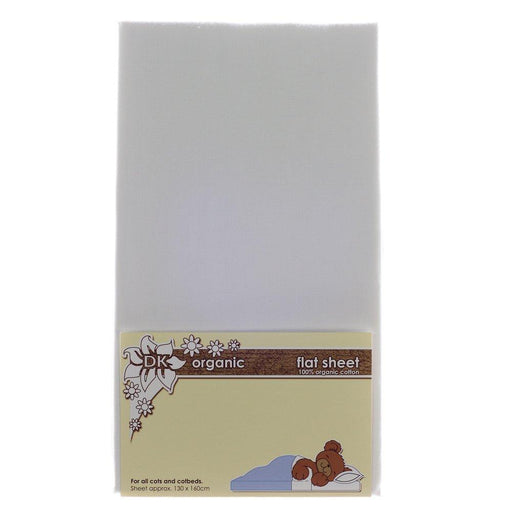 DK Glovesheets Flat Sheet for Cots and Beds (Organic White)
