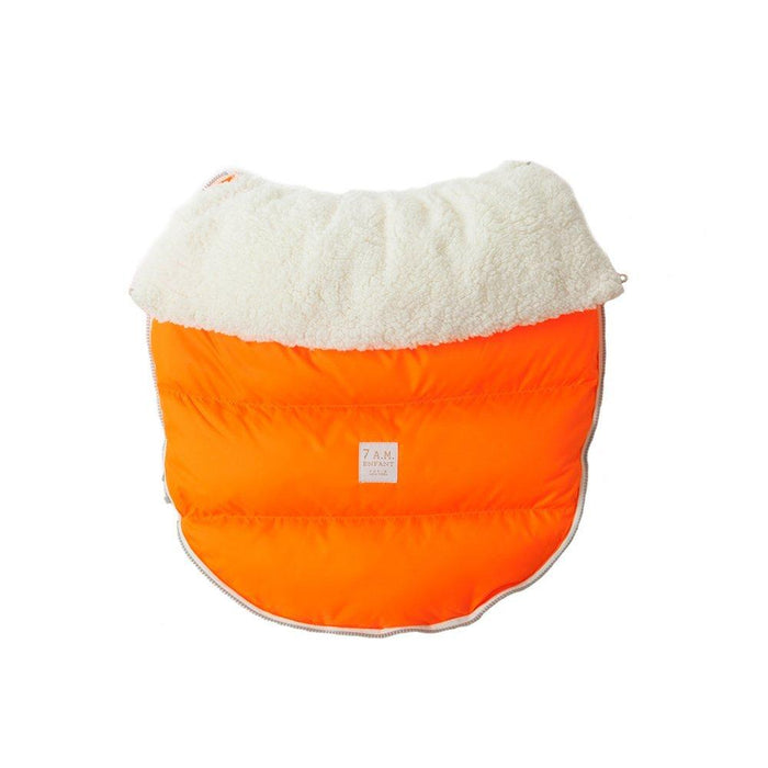 7AM Enfant Lamb Pod Cover for Strollers and Car-Seats, Neon Orange, Small/Medium