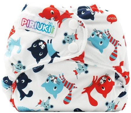 Piriuki Easy All In Pocket Diaper (Universal, Meow Meow)