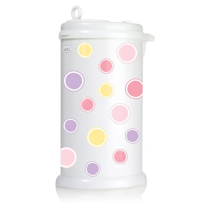 Ubbi Diaper Pail Decal (Bubbles/Pink)