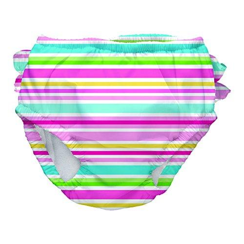 iPlay Mix and Match Swim Sun Protection 50 + Diper Pink Multistripe, size M (6 – 12 Months)