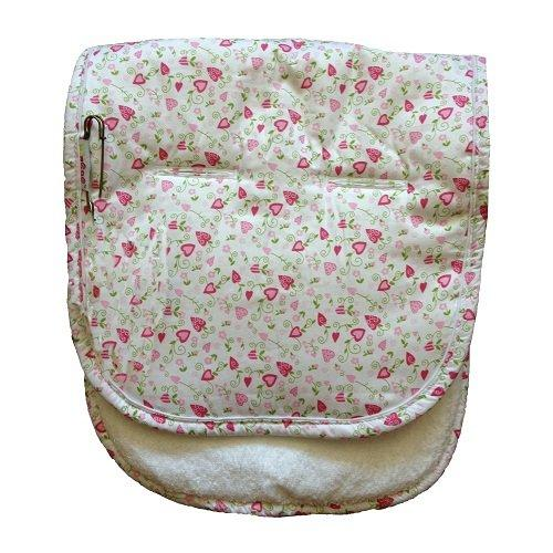 Minene Universal Pushchair Liner Stroller Pram Buggy Footmuff Cosytoes Car Seat (White with Flowers)