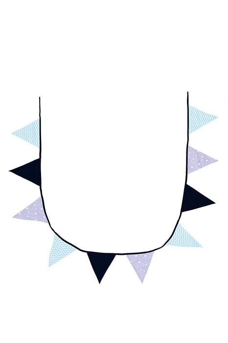 BB & Co Cotton Bunting Garland - Blue/Grey/Navy