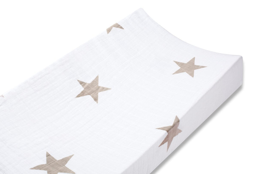 aden + anais Super Star Scout Fawn Stars Changing Mat Cover
