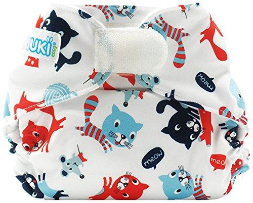 Piriuki Easy All In Velcro Pocket Diaper (Universal, Meow Meow)