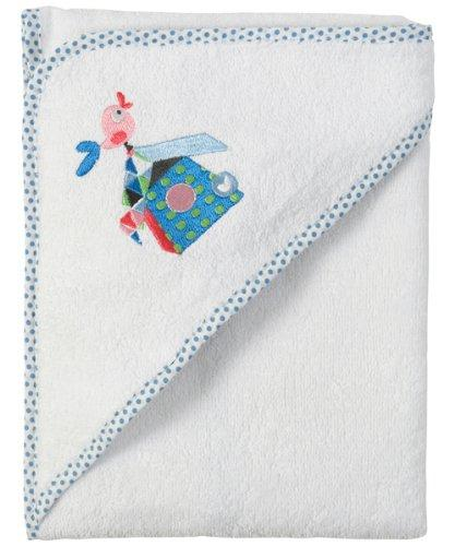 Bébé-Jou 301040 Hooded Towel White with Tweet Print