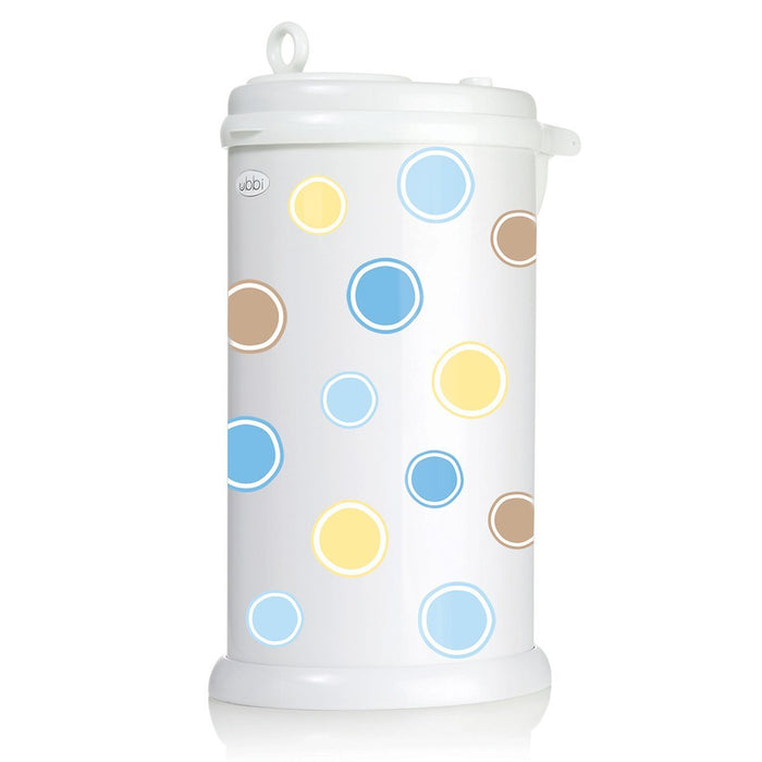 Ubbi Diaper Pail Decal (Bubbles/Blue)