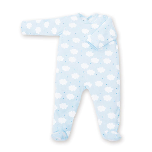Baby Boum Baby Pajamas Cotton Jersey (3 - 9 Months, Frost)