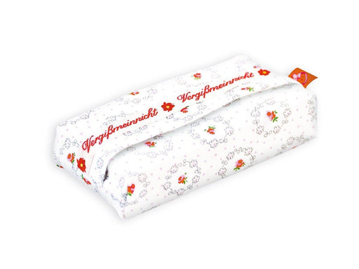 La Fraise Rouge 4251005601167 Paris Handkerchief Pouch, White with Flower Pattern