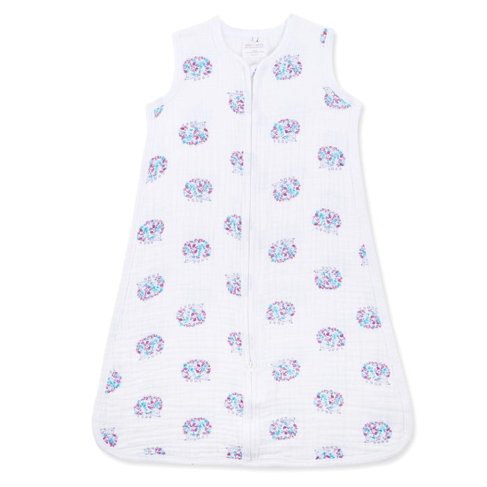 aden + anais Classic Muslin Sleeping Bag, 1 tog, Large, 12 To 18 Months, Thistle