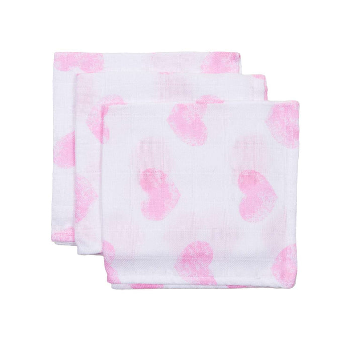 Briljant Baby HYDR Moon 3x BIG HARD 115r Pink Hydro Milly PHILEN Muslin Face Cloth - Pink