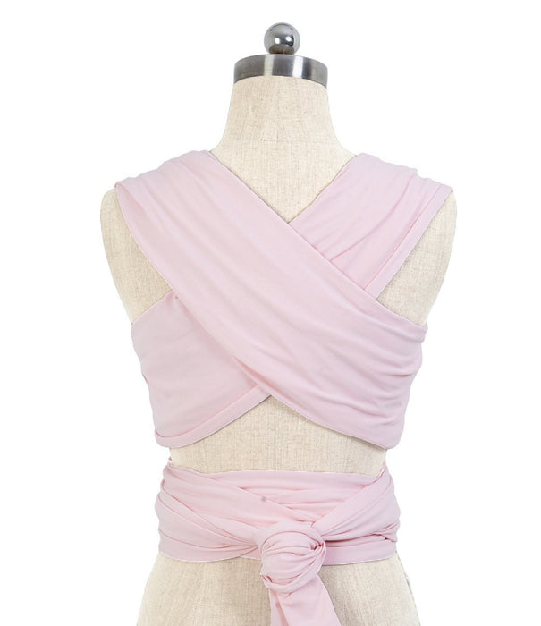 Allis Baby Sling Stretchy Wrap Carrier with Leather Cuff (Pink)