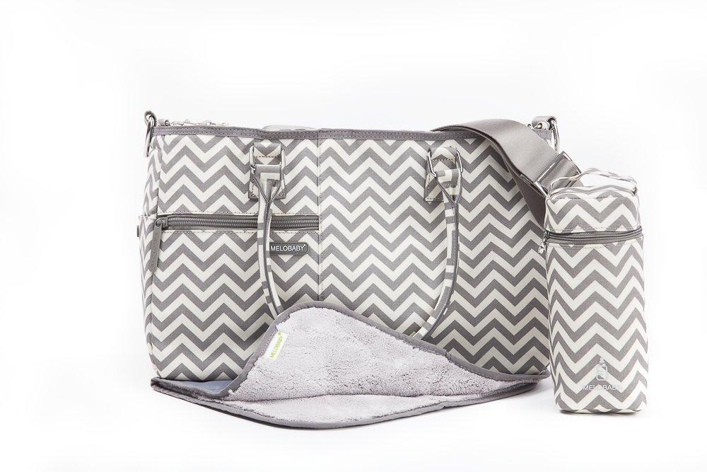 Melobaby Melotote Changing Bag (Chevron Grey)