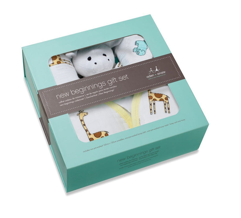 Aden + Anais jungle jam birth gift set