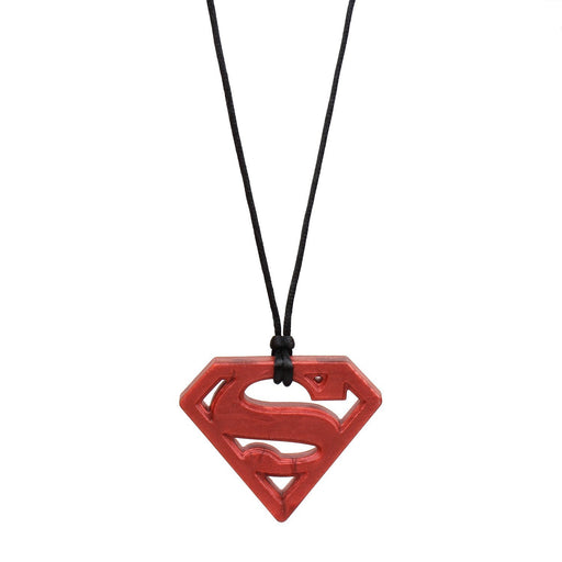 Bumkins DC Comics Silicone Teething Pendant Necklace, Superman Ruby
