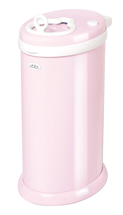 Ubbi Diaper Pail/Nappy Bin (Light Pink)