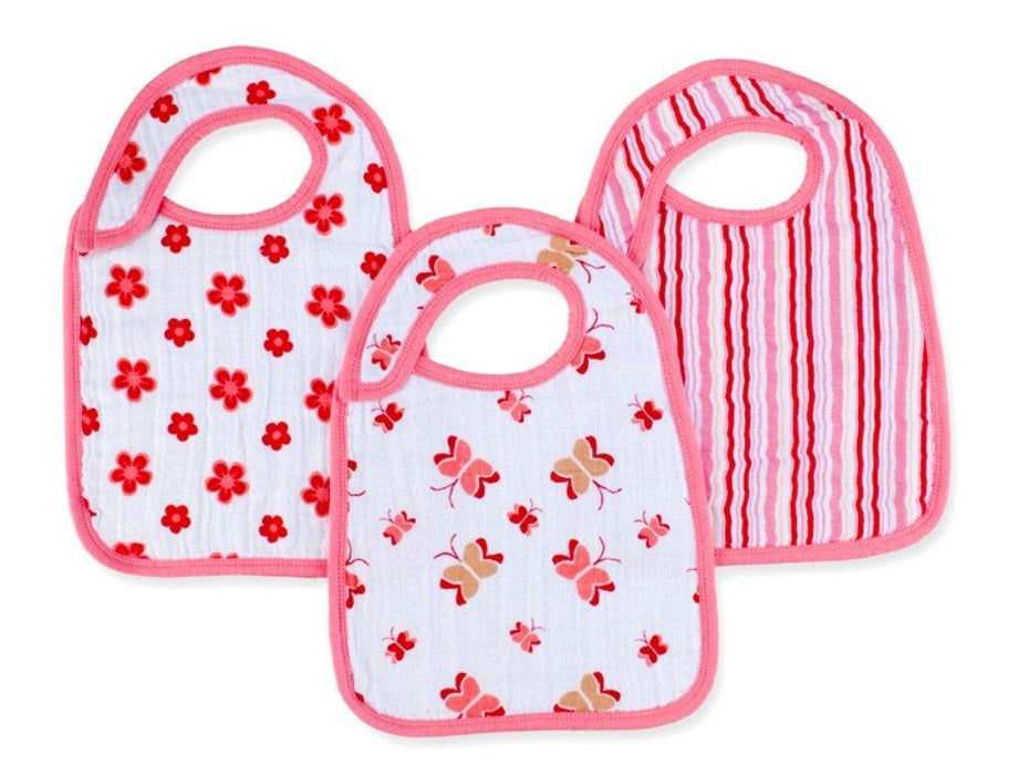 aden + anais Princess Posie Muslin Nibble Snap Bib (Pack of 3)