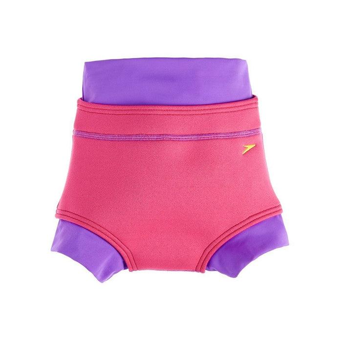 Speedo Babies Swimnappy Cover Swimsuit - Purple Rain/Raspberry Fill, Size 6 - 9