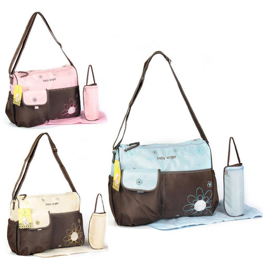 Nappy bag diapter bag 3 parts blue brown changing bag baby care bag travel choice of colours