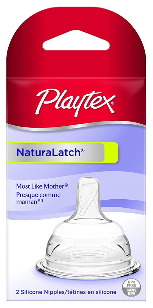 Playtex NaturaLatchNipple, Slow Flow, 2-Count