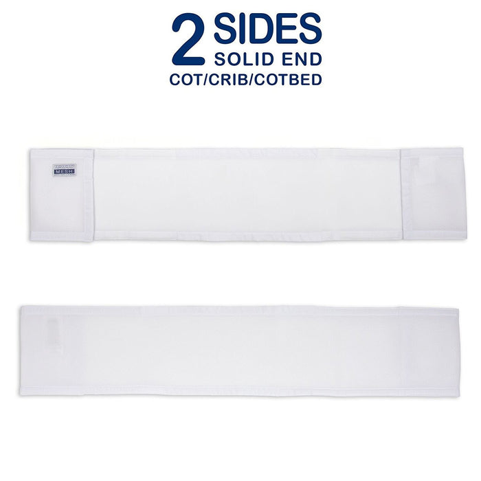 Airwrap 2-Sided Cot Bumpers (White)
