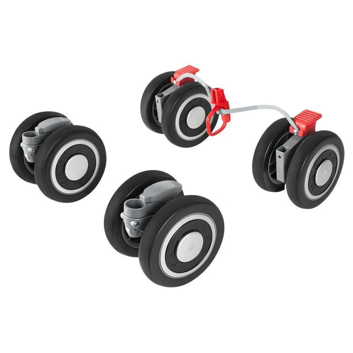 Maclaren Techno XT Front and Rear Wheels (Black/Silver)