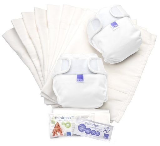 Bambino Mio Miosoft Two Piece Reusable Nappy Set (White)