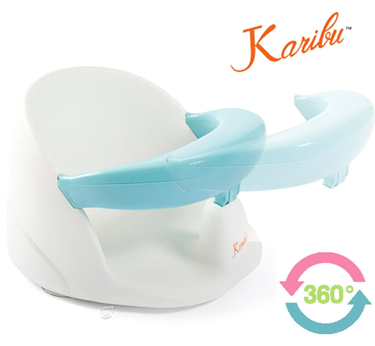 Karibu Swivel Baby Bath Seat 360 Degree with Removable Front Bar ...
