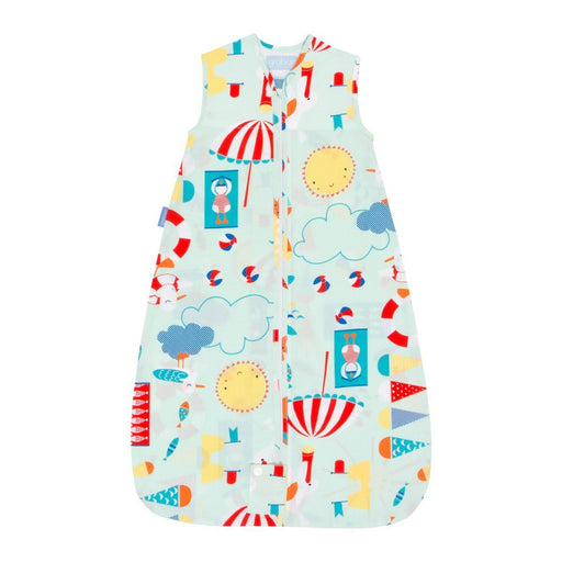 The Gro Company Beside the Sea 6-18 Months, 0.5 Tog Extra Cool Travel Grobag with Fabric Carry Bag