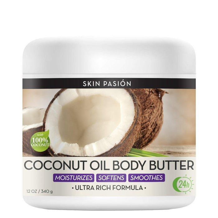 Skin Pasión Coconut Body Butter, 12 Fluid Ounce (Pack of 4)