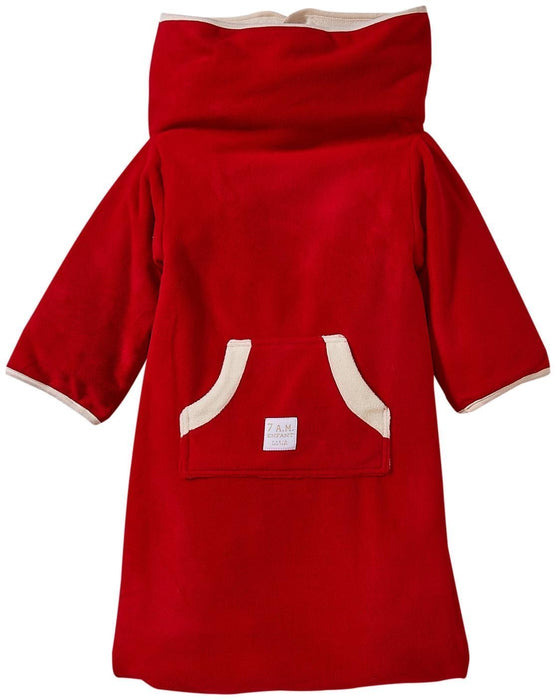 7AM Enfant Easy Cover Bunting Bag Fleece, Red, Small