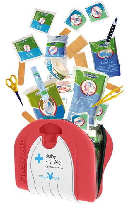 Wallaboo Baby First Aid Kit for Newborns - Red