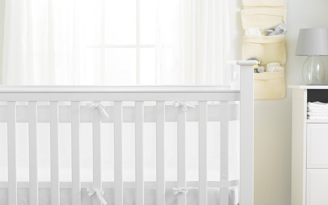 AirFlow 4 Sided Cot Mesh Liner - White