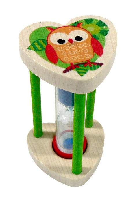 Hess Wooden Owl Decor Tooth Brush Holder with Timer