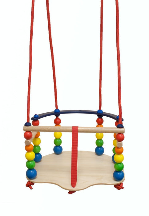 Hess Wooden Baby Toy Pacifier Chain Clip (Colored/ Yellow)