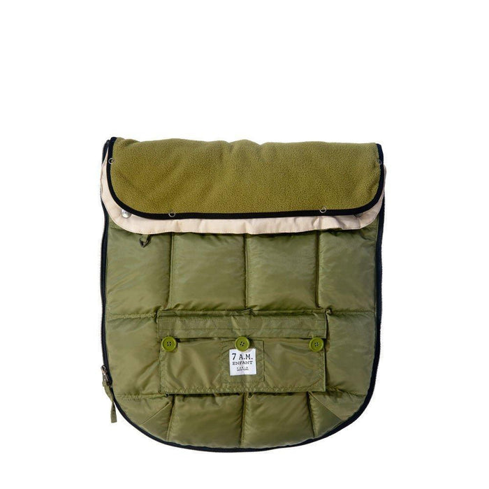 "7AM Enfant ""Le Sac Igloo"" Footmuff, Converts into a Single Panel Stroller and Car Seat Cover, Army, Small"