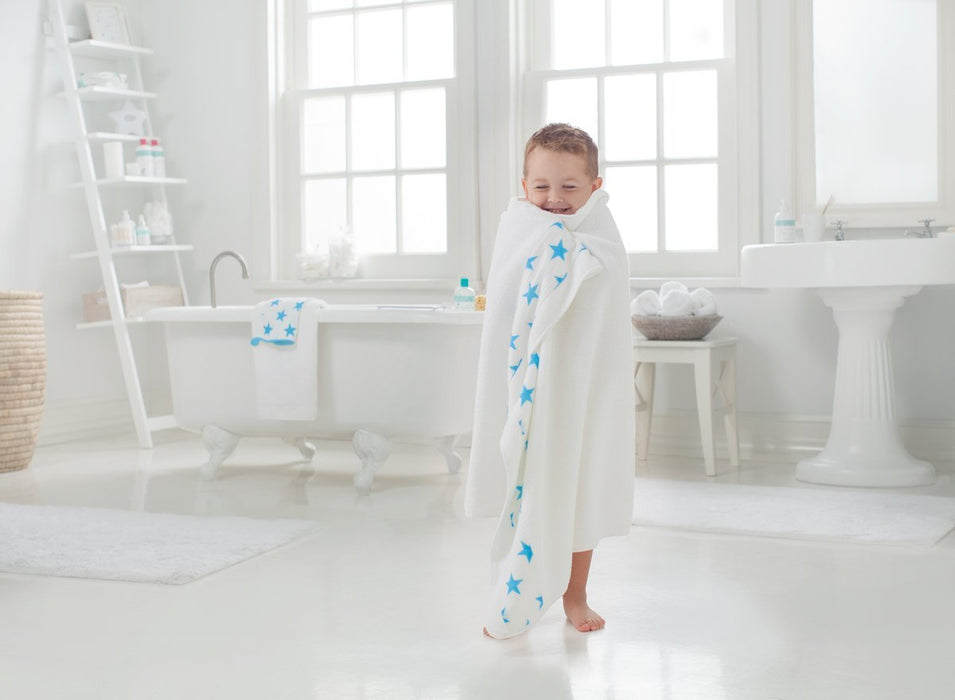 aden + anais Toddler Towel (Fluro Blue)