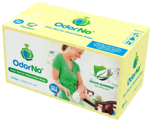 OdorNo Model INF-2-4103 Odor-Barrier, Multi-Layer Infant Waste Disposal Bags, 2 gal, 20 Count