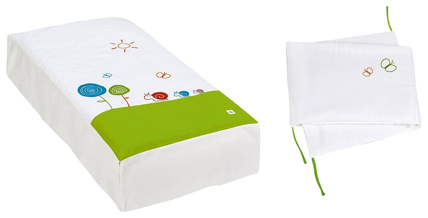 Alondra 9l2g-251 - Set Quilt and Protector, Cot 70 x 140 cm, 2 Pieces, Green