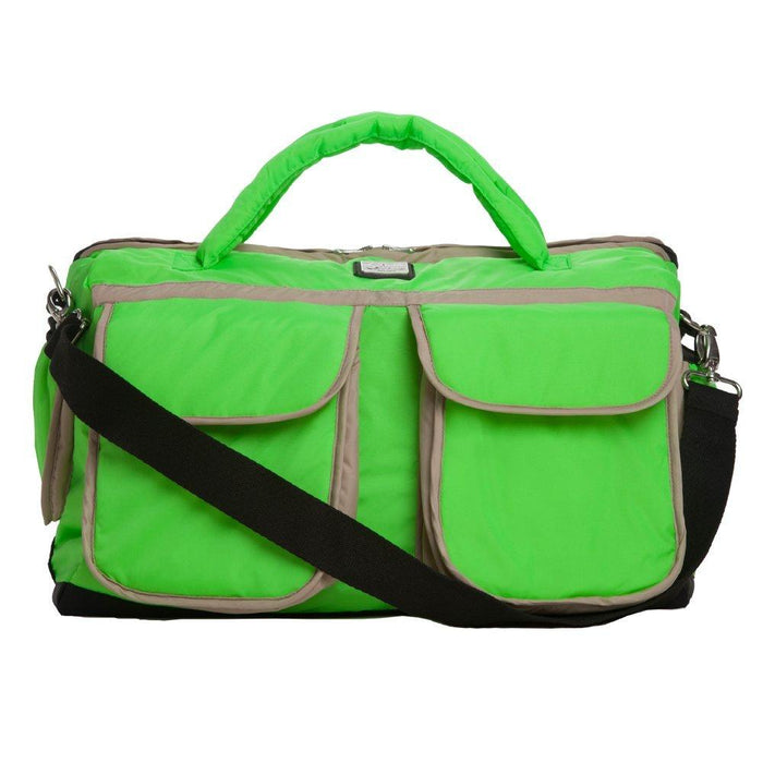7AM Enfant Voyage Diaper Bag, Neon Green, Large