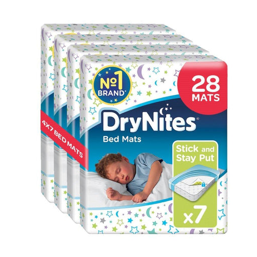 Huggies DryNites Disposable Bed Mats, Mattress Protector - 28 Mats Total