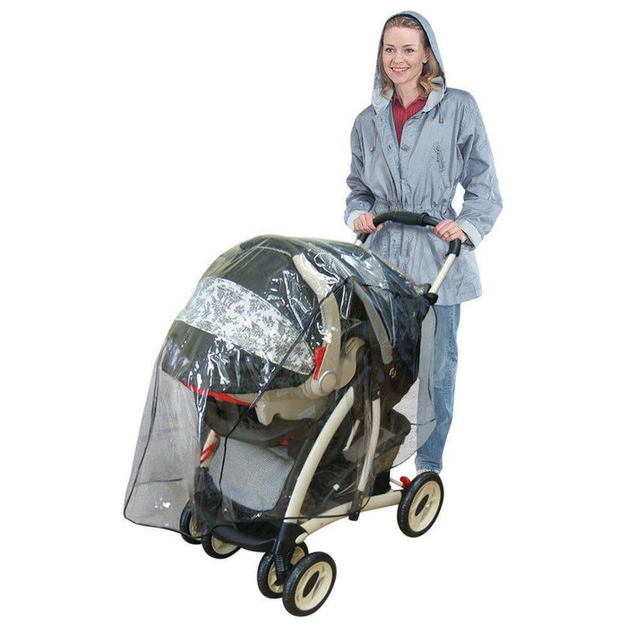 J is for Jeep Travel System Weather Shield,  Baby Rain Cover, Universal Size, Waterproof, Water Resistant, Windproof, See Thru, Ventilation, Clear, Plastic, Protection, Shade, Umbrella, Pram, Vinyl