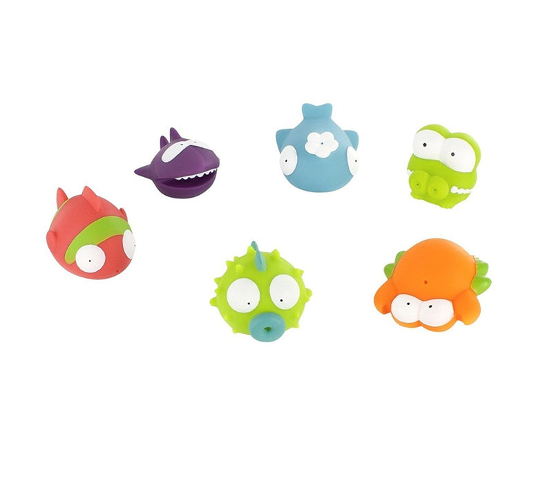 Badabulle Squirty Bath Toys, Ocean Animals, 6-Piece