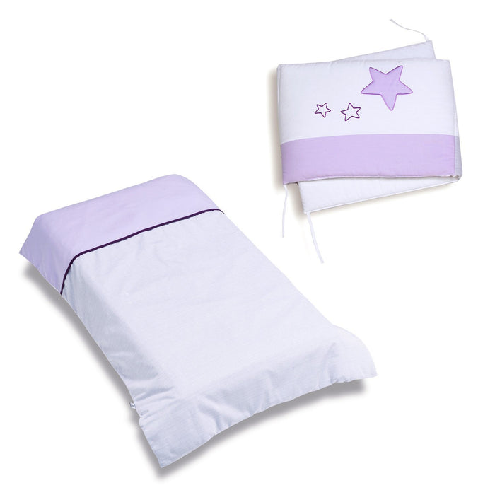 Alondra 9l2 N-075 - Set Nordic and Protector, Cot 60 x 120 cm, 2 Pieces, Purple