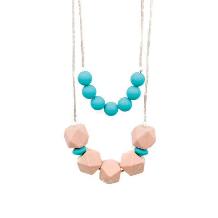 Bumkins Nixi Paloma Silicone Teething Necklace, Turquoise