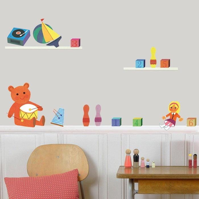 Art For Kids 30 x 42 cm Adhesive Vinyl Toys Wall Sticker, Multi-Colour