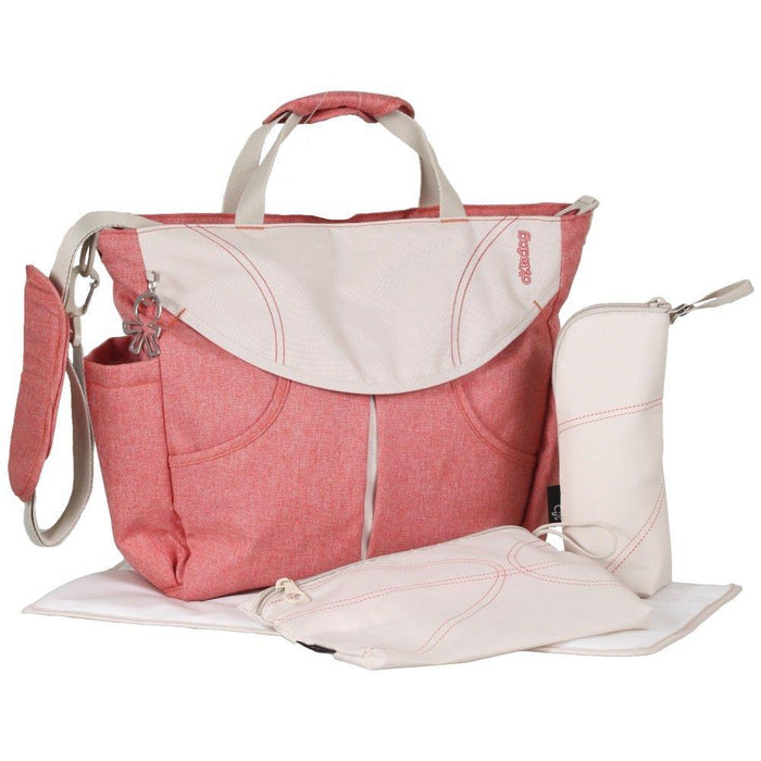 Okiedog Urban Sumo Changing Bag - Coral, Polyester