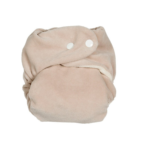 P 'tits So Bamboo Nappy with Insert Pebble White