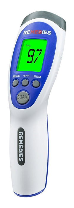 REMEDIES Most Accurate Forehead Temporal Thermometer Touchless & Easy to Use, Good for Baby's/Kids Fever Reading, Adults & Medical Nurses Plus Room/Surface Temperature Option